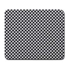 Black and White Checkerboard Weimaraner Large Mousepads