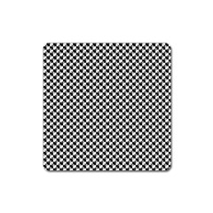 Black and White Checkerboard Weimaraner Square Magnet