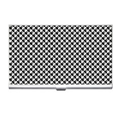 Black and White Checkerboard Weimaraner Business Card Holders