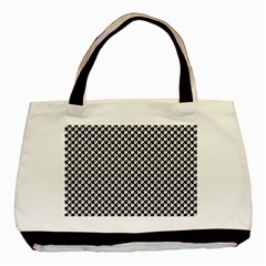 Black and White Checkerboard Weimaraner Basic Tote Bag
