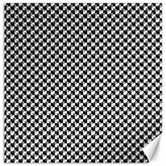 Black and White Checkerboard Weimaraner Canvas 12  x 12