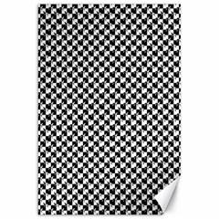 Black and White Checkerboard Weimaraner Canvas 20  x 30