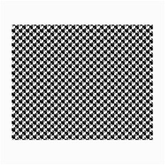 Black and White Checkerboard Weimaraner Small Glasses Cloth (2-Side)