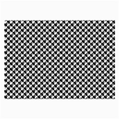 Black and White Checkerboard Weimaraner Large Glasses Cloth (2-Side)