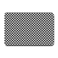 Black and White Checkerboard Weimaraner Small Doormat