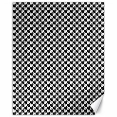 Black and White Checkerboard Weimaraner Canvas 11  x 14