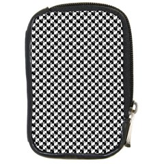 Black and White Checkerboard Weimaraner Compact Camera Cases