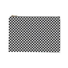 Black and White Checkerboard Weimaraner Cosmetic Bag (Large)