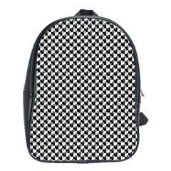 Black and White Checkerboard Weimaraner School Bags(Large)