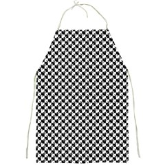 Black and White Checkerboard Weimaraner Full Print Aprons