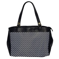 Black and White Checkerboard Weimaraner Office Handbags