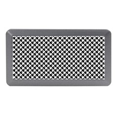 Black and White Checkerboard Weimaraner Memory Card Reader (Mini)