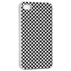 Black and White Checkerboard Weimaraner Apple iPhone 4/4s Seamless Case (White)