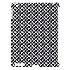 Black and White Checkerboard Weimaraner Apple iPad 3/4 Hardshell Case (Compatible with Smart Cover)