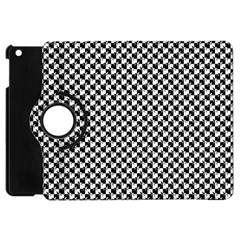 Black and White Checkerboard Weimaraner Apple iPad Mini Flip 360 Case