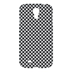 Black and White Checkerboard Weimaraner Samsung Galaxy S4 I9500/I9505 Hardshell Case
