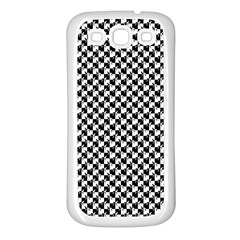 Black and White Checkerboard Weimaraner Samsung Galaxy S3 Back Case (White)