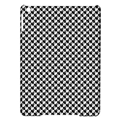 Black and White Checkerboard Weimaraner iPad Air Hardshell Cases