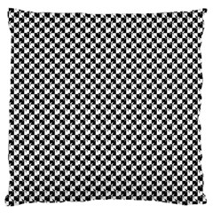 Black and White Checkerboard Weimaraner Large Flano Cushion Case (One Side)