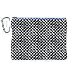Black and White Checkerboard Weimaraner Canvas Cosmetic Bag (XL)