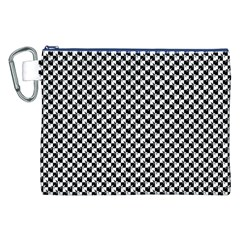 Black and White Checkerboard Weimaraner Canvas Cosmetic Bag (XXL)