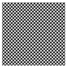 Black and White Checkerboard Weimaraner Large Satin Scarf (Square)
