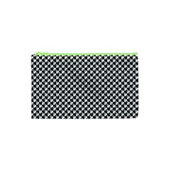 Black and White Checkerboard Weimaraner Cosmetic Bag (XS)