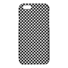 Black and White Checkerboard Weimaraner iPhone 6/6S TPU Case