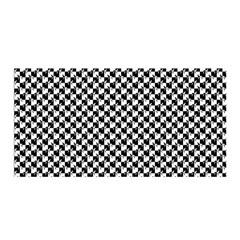 Black and White Checkerboard Weimaraner Satin Wrap