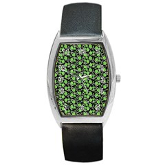 Roses pattern Barrel Style Metal Watch