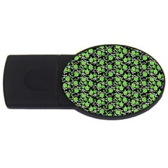 Roses pattern USB Flash Drive Oval (4 GB)