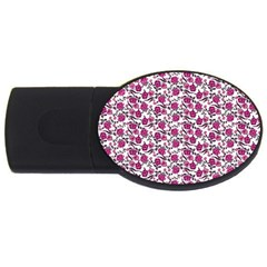 Roses pattern USB Flash Drive Oval (1 GB)