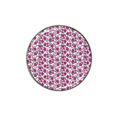 Roses pattern Hat Clip Ball Marker (4 pack)