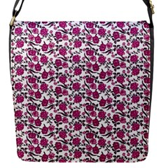 Roses pattern Flap Messenger Bag (S)