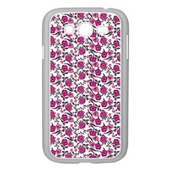Roses pattern Samsung Galaxy Grand DUOS I9082 Case (White)