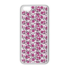 Roses pattern Apple iPhone 5C Seamless Case (White)