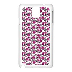 Roses pattern Samsung Galaxy Note 3 N9005 Case (White)
