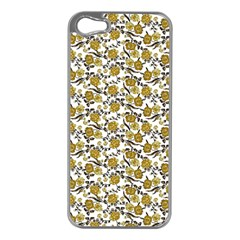 Roses pattern Apple iPhone 5 Case (Silver)