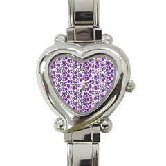 Roses pattern Heart Italian Charm Watch