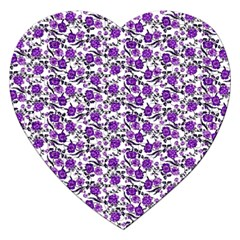 Roses pattern Jigsaw Puzzle (Heart)