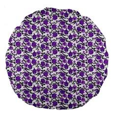 Roses pattern Large 18  Premium Flano Round Cushions