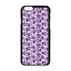 Roses pattern Apple iPhone 6/6S Black Enamel Case