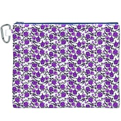 Roses pattern Canvas Cosmetic Bag (XXXL)
