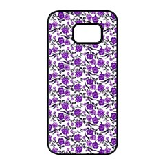 Roses pattern Samsung Galaxy S7 edge Black Seamless Case