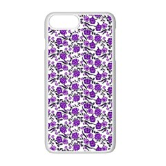 Roses pattern Apple iPhone 7 Plus White Seamless Case