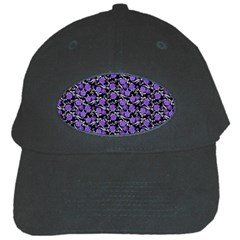 Roses pattern Black Cap