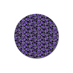 Roses pattern Magnet 3  (Round)