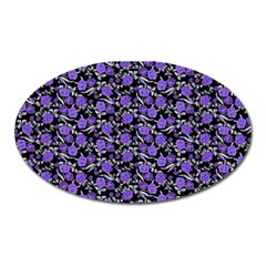 Roses pattern Oval Magnet