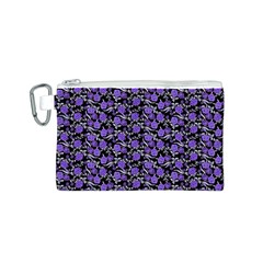 Roses pattern Canvas Cosmetic Bag (S)