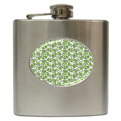 Roses pattern Hip Flask (6 oz)